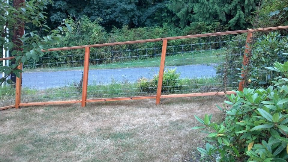 Fences « Cedar Creek Lumber | Garden - Fences | Pinterest | Hog wire ...