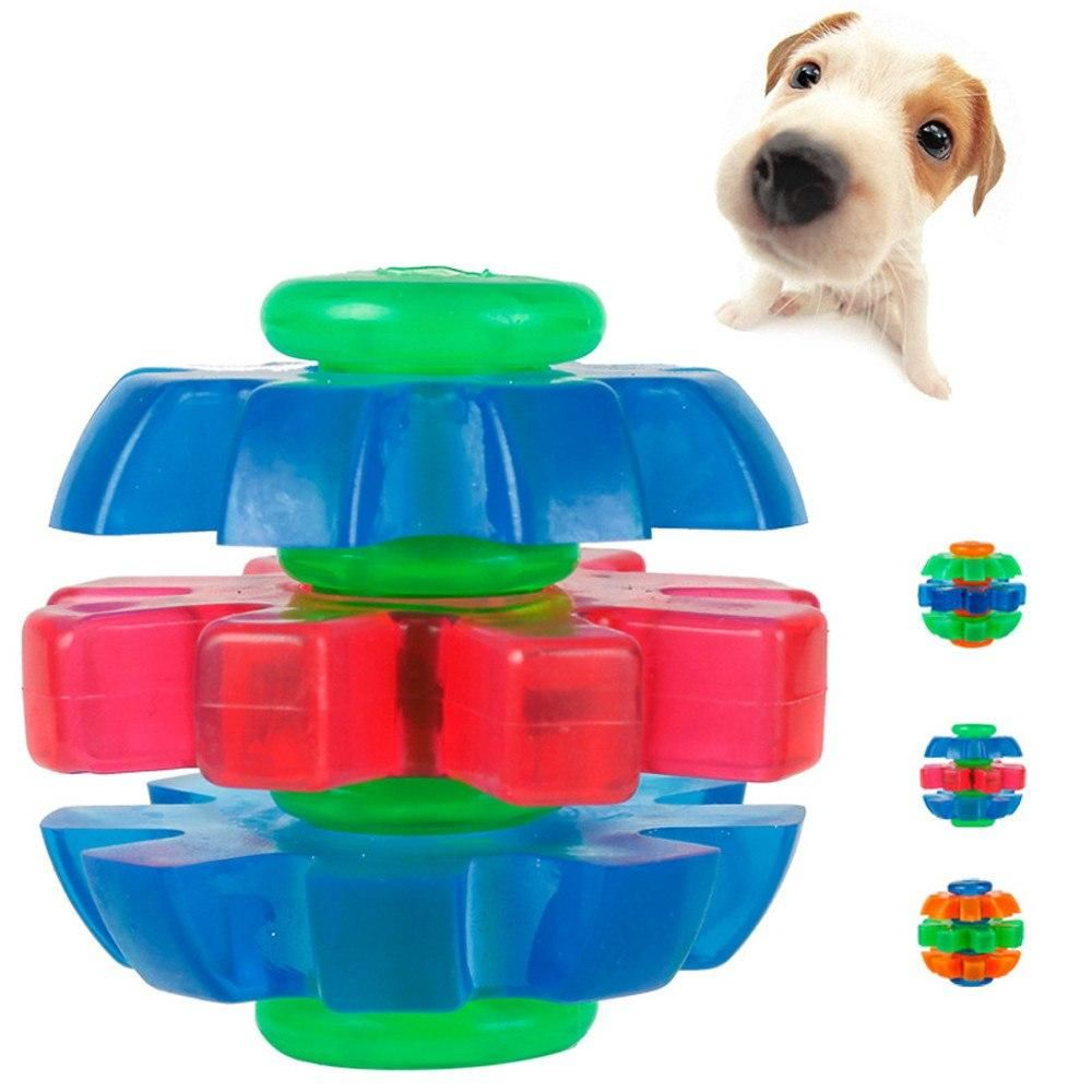 Transer Dogs Toys Braided Ball And Rope Rubber Ball Pet Dog