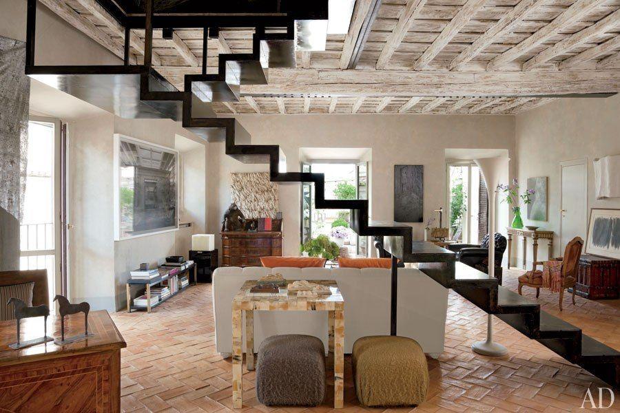 Wohnzimmer Cremeweiß ~ Modern style im wohnzimmer mit parkett in eiche lebhaft cremeweiß