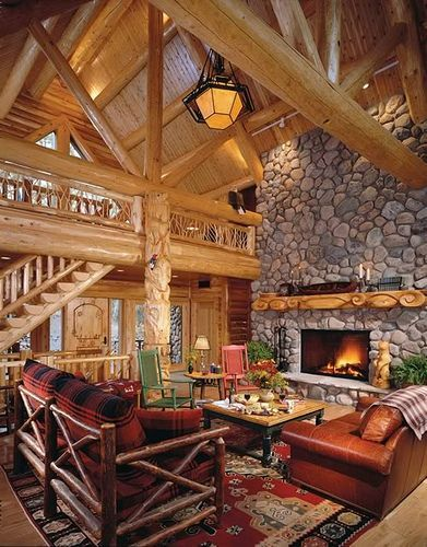 cozy wooden homes Pinterest Log cabins, Logs and Cabin