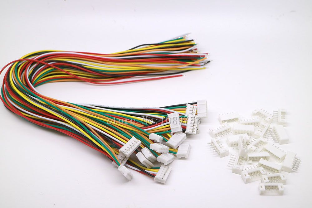 20 SETS Mini Micro JST 2.0 PH 6-Pin Connector plug with Wires Cables ...