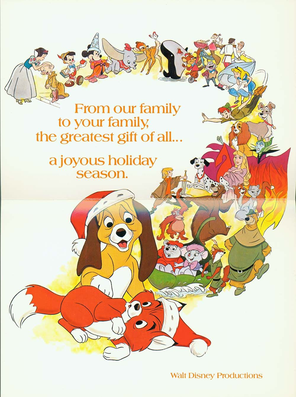 1981 the years big movie was the charming animated tale the fox the hound so it makes sense two characters from that film copper and tod