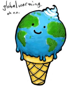 Global Warming ice cream cone Clipart » Geography » global