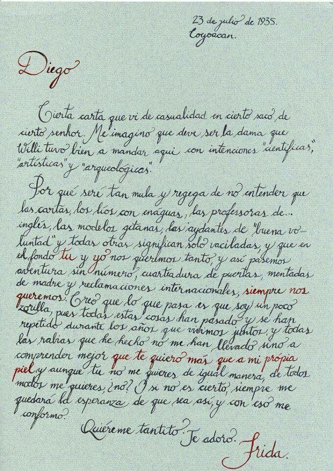 Carta de Frida a Diego.