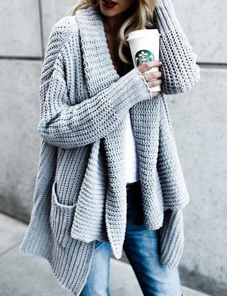 705ee282d  41.99! Stylish Loose Knit Cardigan fall fashion fashion trend shop ...