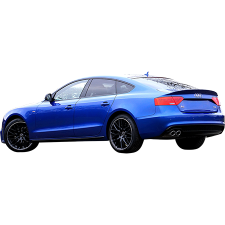 A Shiny Blue Car Parked In An Angle Spot This Photo Has The Background Removed Blue Car Audi Blue