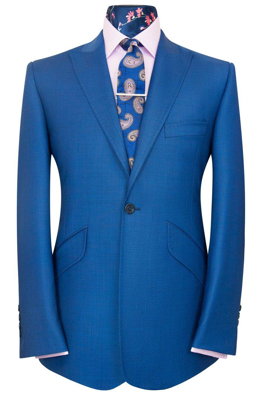 a9ade3bc84e3 The Ashmore Zaffre Blue Birdseye Suit in 2019 | Vêtements homme ...