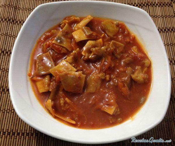 Receta de oreja de cerdo en salsa receta recetas con for Cocinar oreja de cerdo