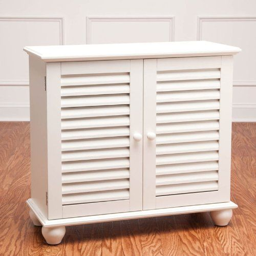 Cape Craftsman Shutter 2 Door Cabinet White Furniturendecor Com Home Design Living Room Cabinet Furniture