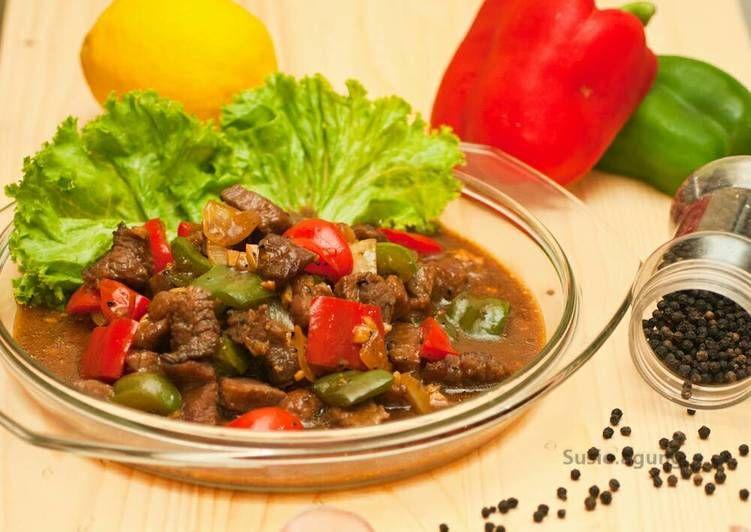 Resep Sapi Lada Hitam Paprika Oleh Susi Agung Resep Sapi Resep Daging