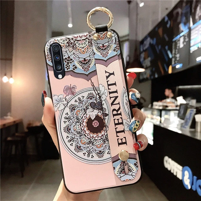 For Galaxy Note 8 9 10plus A750 A70 A60 A50 A40 A30 A20 A10 S8 S9 S10 Plus M20 Wrist Band Phone Holder Case | Touchy Style