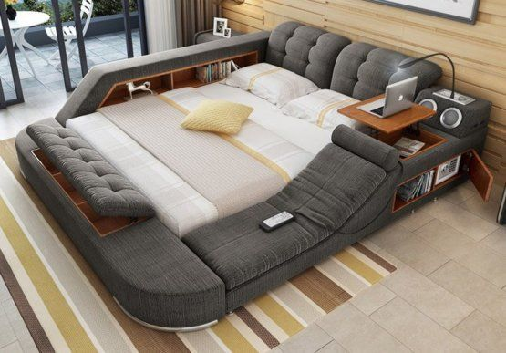 Smart Bed If I Could Have One Thing In Life It D Be This Bed Home Bedroom Bed Design Cool Beds