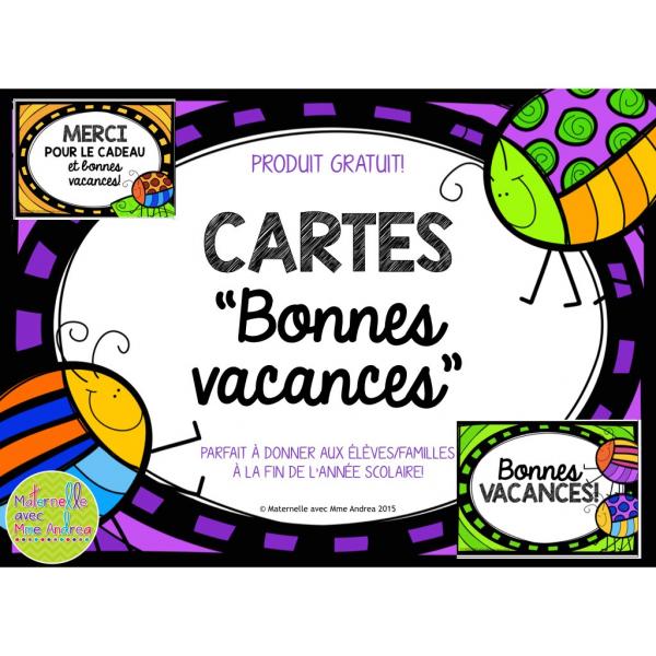 Cartes Bonnes Vacances Gratuit Activites De Fin D Annee
