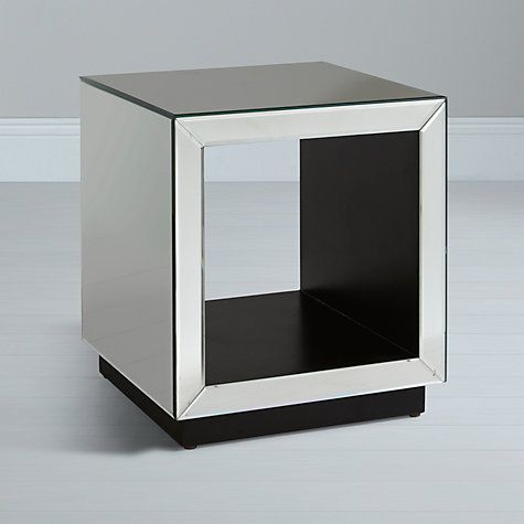 Lovely Buy John Lewis Astoria Mirrored Cube Side Table, Mirror Online At  Johnlewis.com