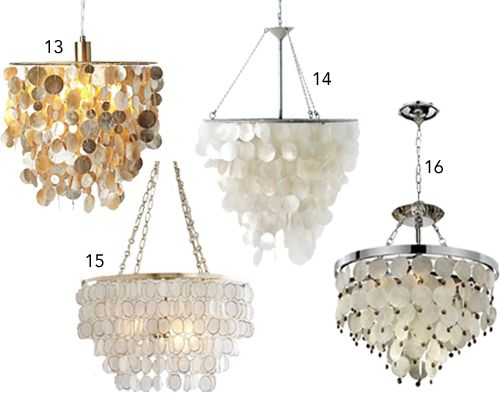 Following up on yesterdays 18 rooms with capiz shell pendants following up on yesterdays 18 rooms with capiz shell pendants chandeliers you might be mozeypictures Gallery