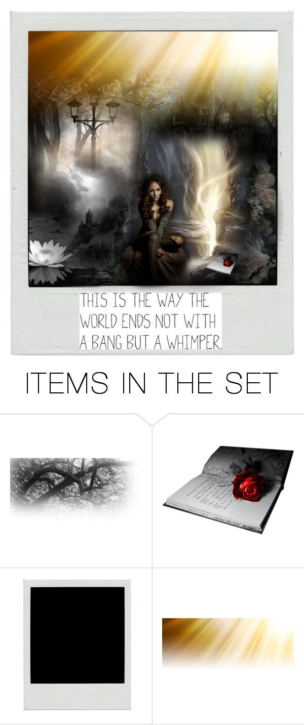 """This is the way the world ends; not with a bang, but a whimper"" by toribelle-x ❤ liked on Polyvore featuring art"
