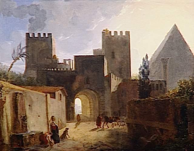 Vue de la porte Saint-Paul à Rome, effet du matin - Auguste de Forbin