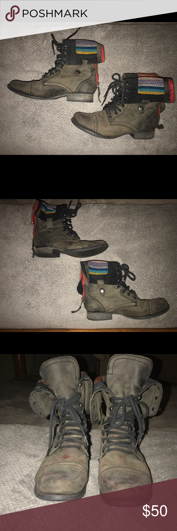 Steve Madden Chevie Combat Boots Awesome condition, barely used! Steve Madden Shoes Combat & Moto Boots