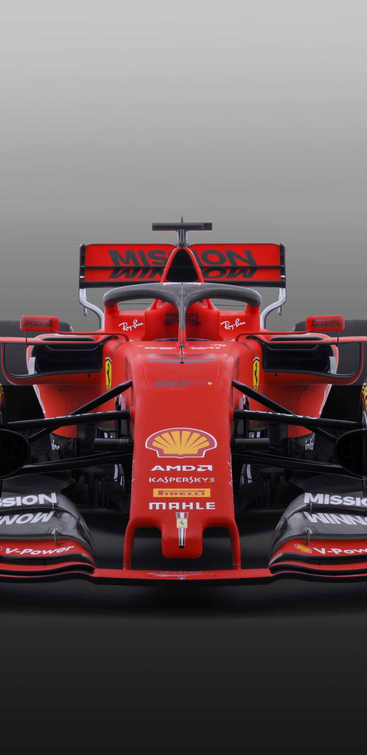 Download 1440x2960 wallpaper 2019 Ferrari SF90 F1, formula
