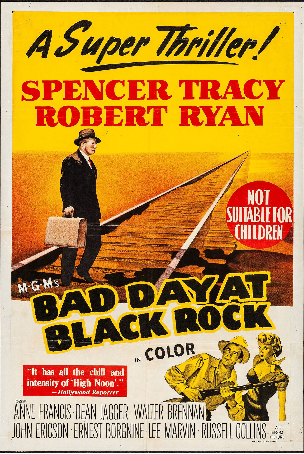 Bad Day at Black Rock MGM 1955 A one armed veteran battles secrecy and corruption Starring Spen