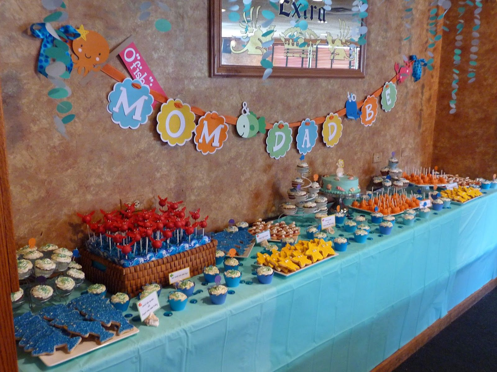 Under the Sea Themed Baby Shower Dessert Table