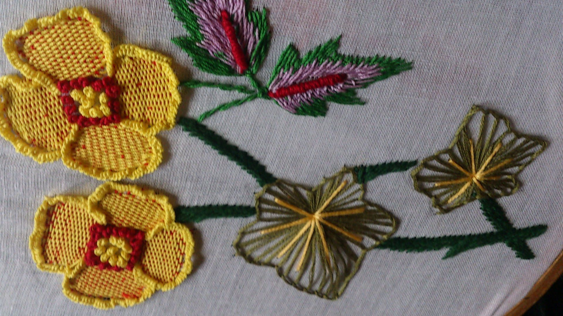 Hand Embroidery stitches tutorial