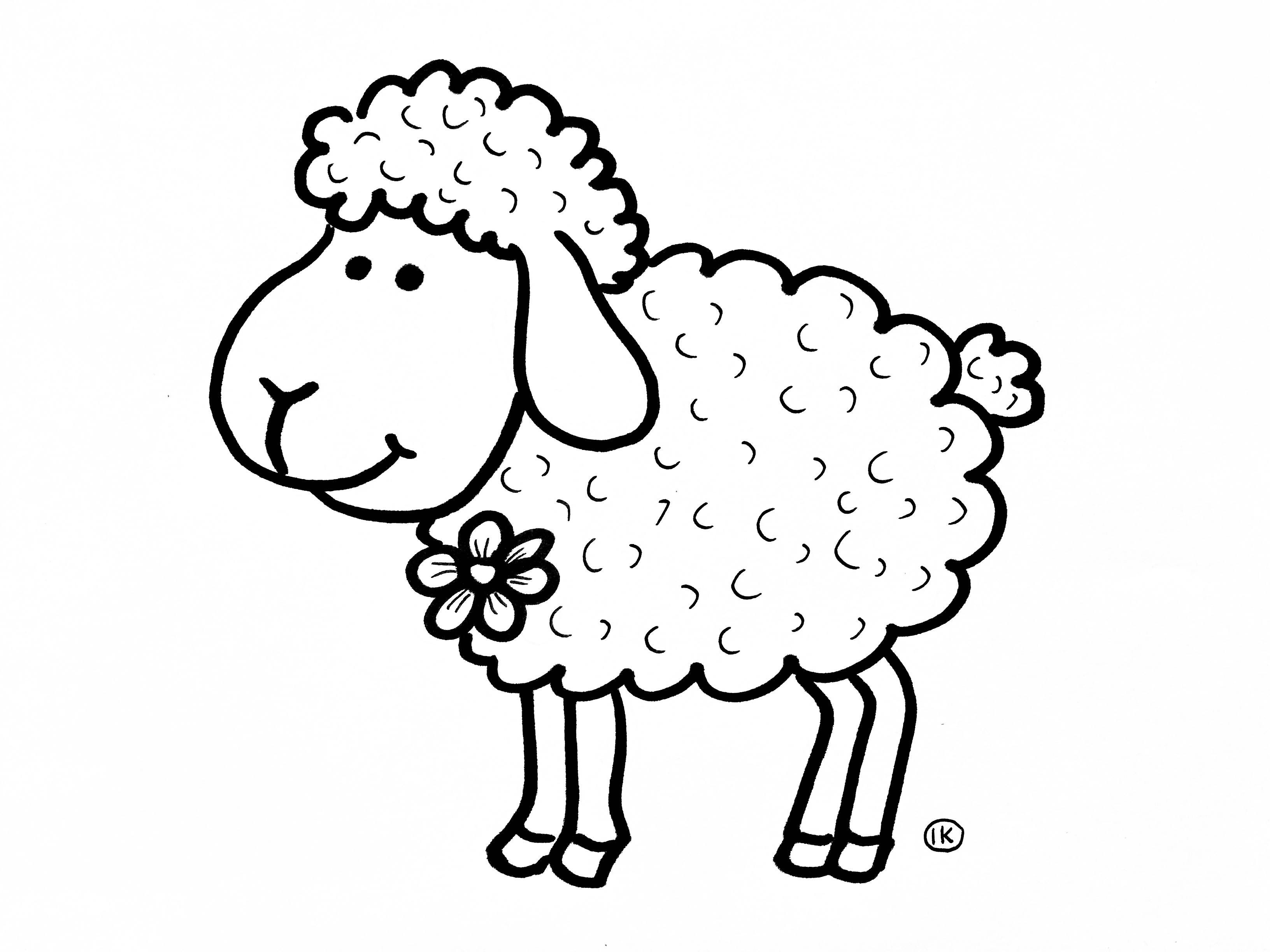 Coloring Sheep Spring Tinkering Creative Coloringpages Coloringpage De Knutseljuf Ede Book Crafts Sheep And Lamb Coloring Pages