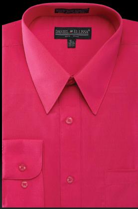 Men Dress Shirt Regular Fit Dimension Solid Color Lime