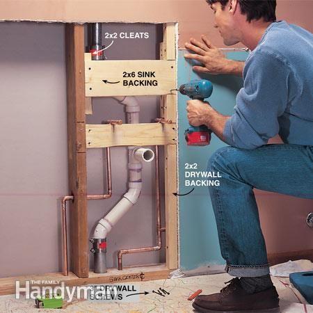 How To Plumb A Pedestal Sink Plumbing Bathroom Sink