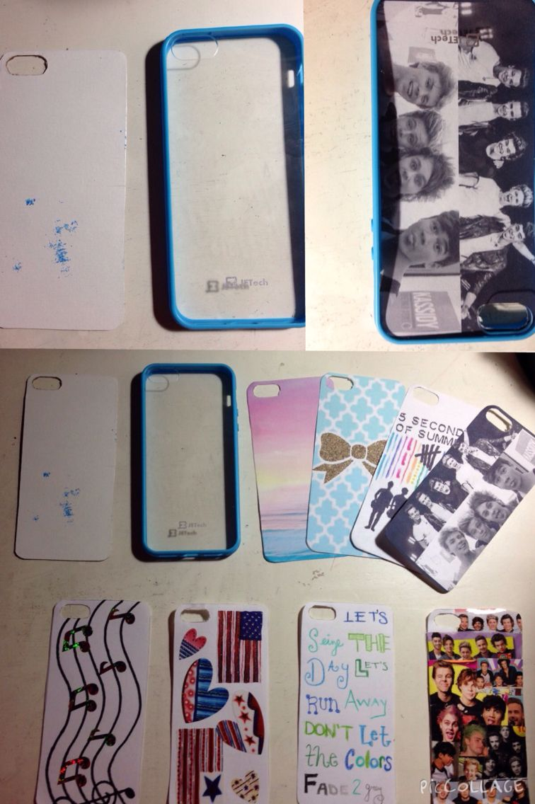 Diy Phone Case Clear Case With Printed Out Designs Drawings