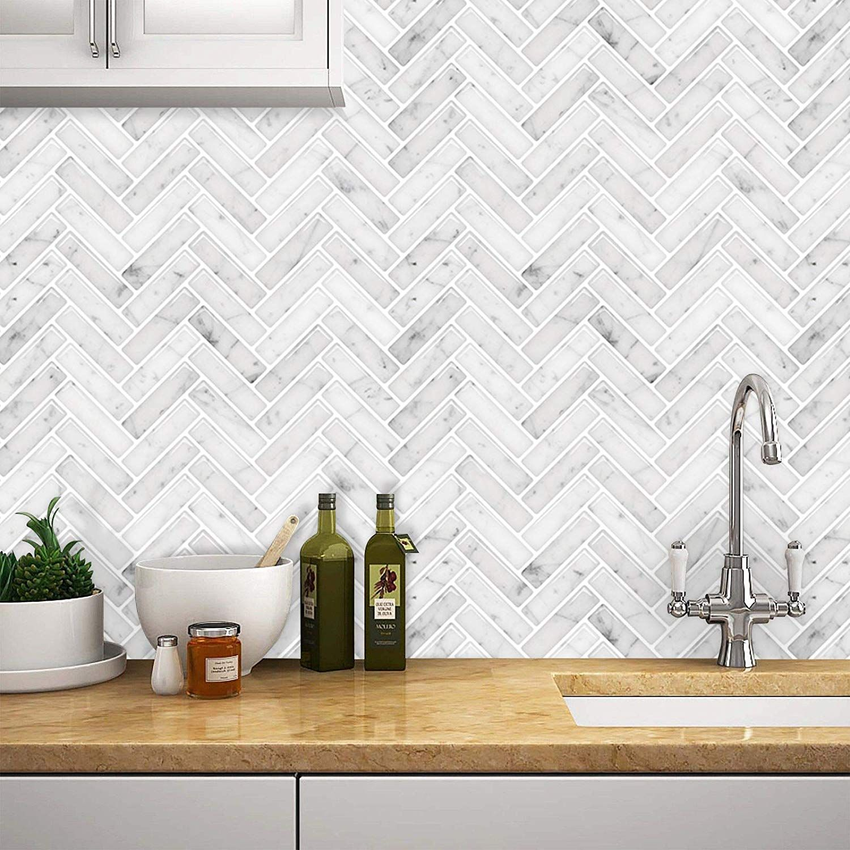 Marble 11 Color Stickgoo Peel And Stick Tile Backsplash For Kitchen Bathroom Stick On Tiles Stick Tile Backsplash Peel And Stick Tile