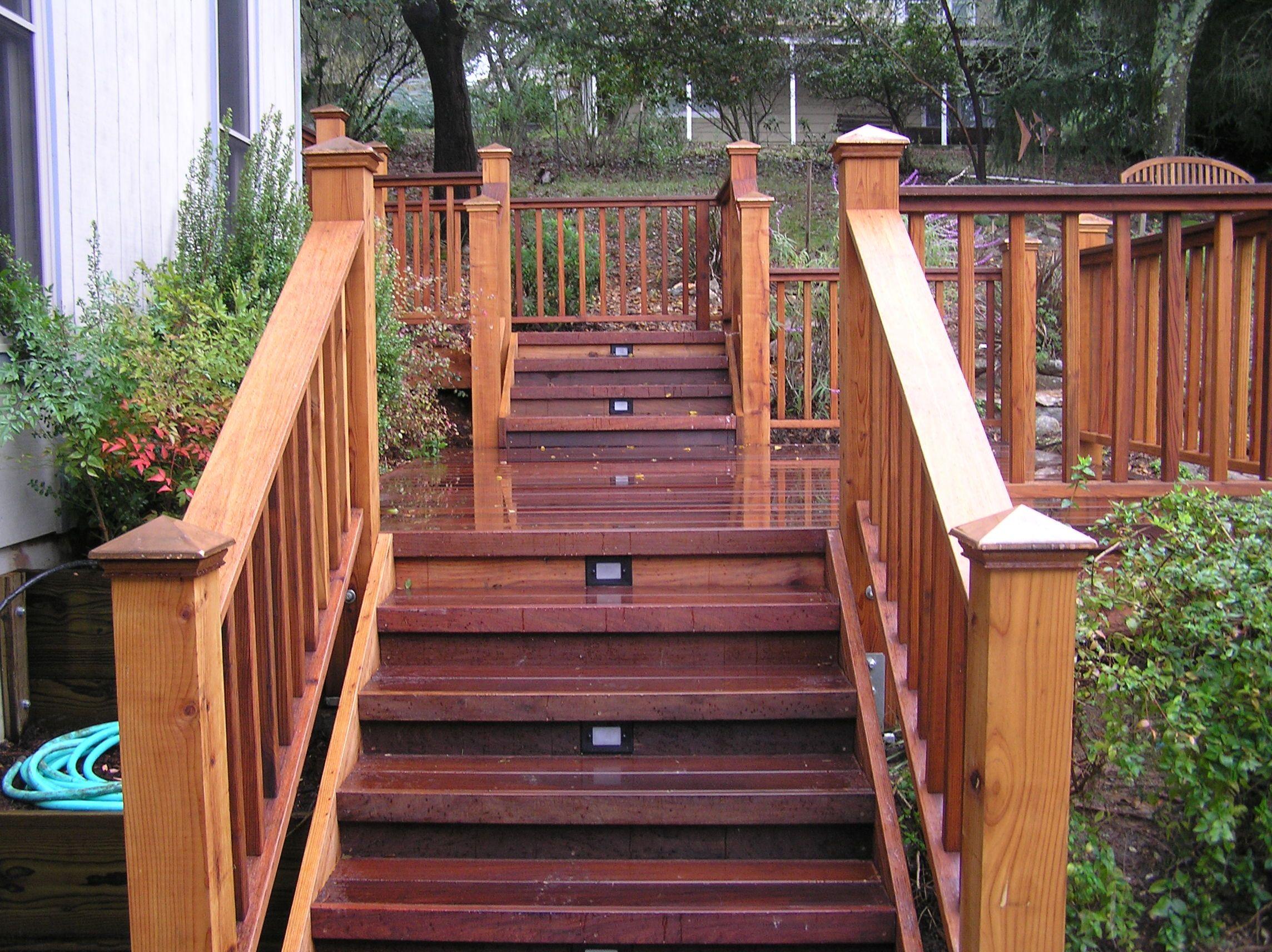 Step option ipe deck Ipe decking