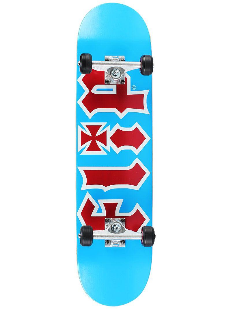 Flip Team Hkd Lt Blue Red Complete Skateboards 7 875 X 31 8 99 99 Skateboards Skateboard Teams