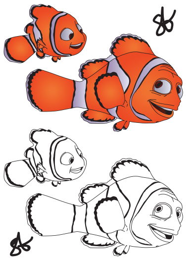 Finding Nemo Coloring Page Marlin
