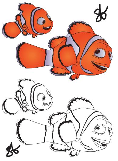 finding nemo coloring page marlin nemo