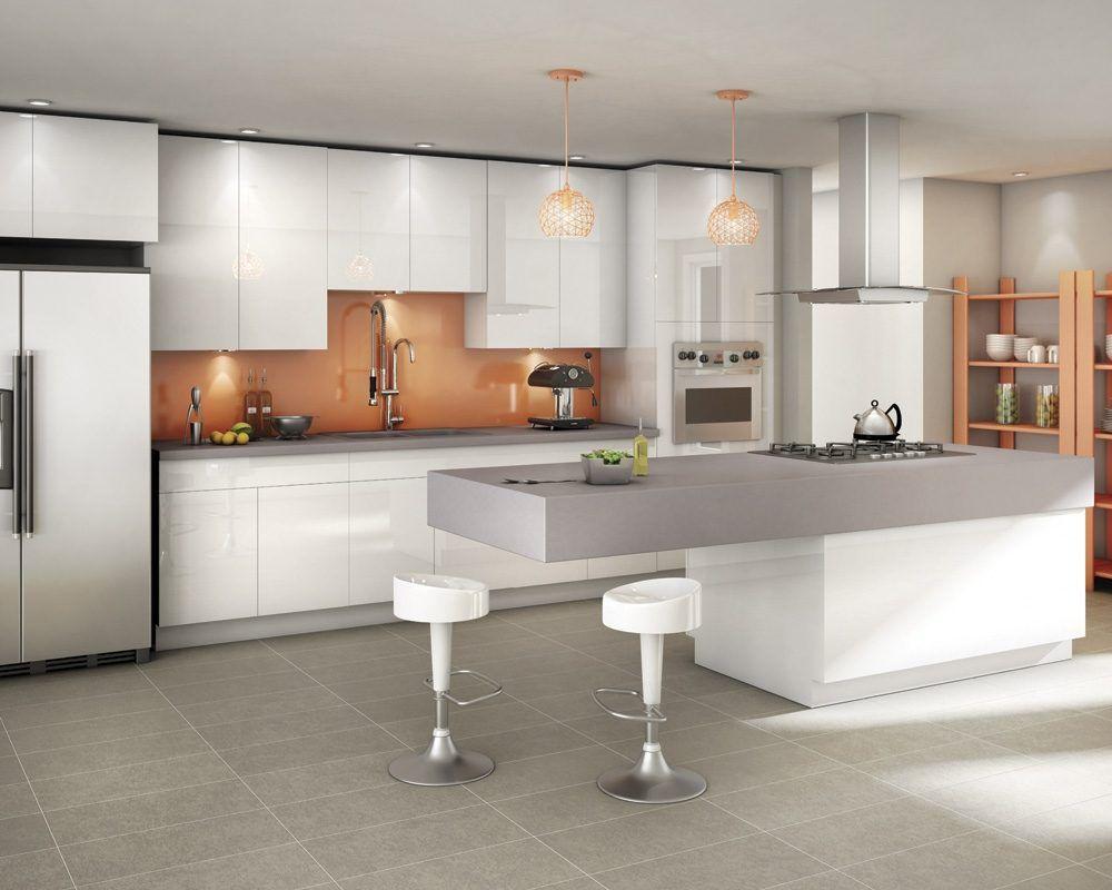 Cocina con isla contempor nea im genes y fotos casa - Cocinas modernas minimalistas ...