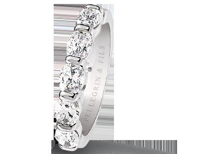 bague diamant avec fil transparent