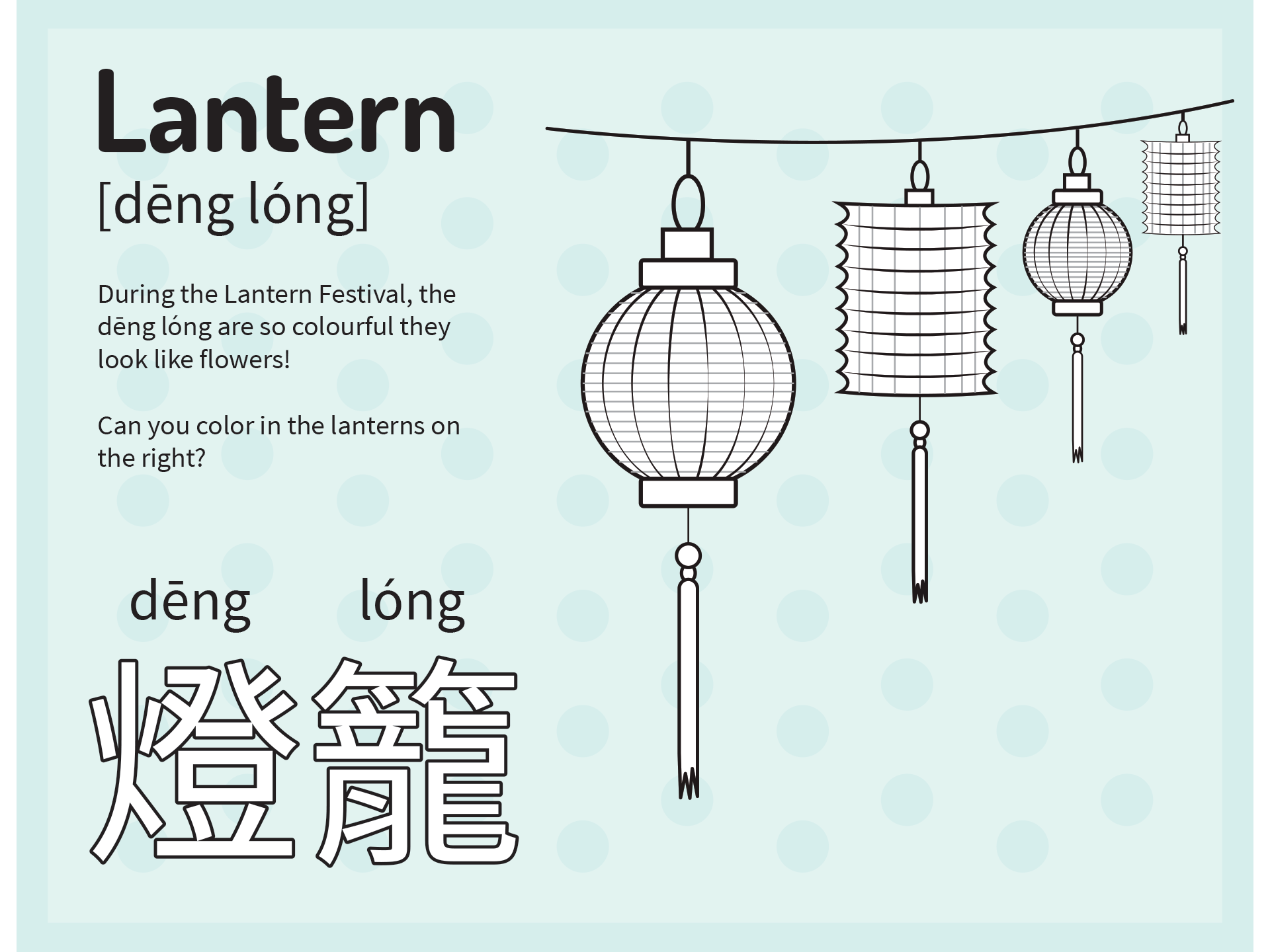 Today Is The Chinese Lantern Festival Learn The Mandarin
