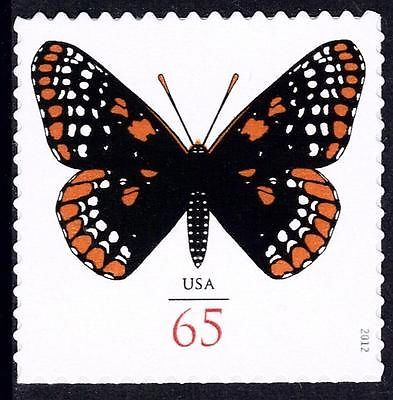 Baltimore Checkerspot Butterfly,  65¢ US stamp, issued in