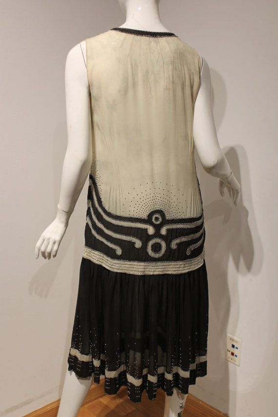 RESERVIERTE 1920 Flapper-Art Deco-Kleid-schwarz von MORPHEWCONCEPT ...