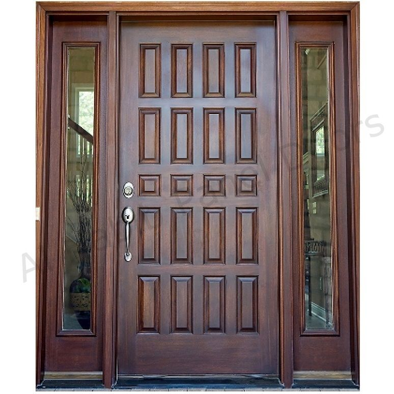 Dayar Wooden Front Door Hpd458 Solid Wood Doors Al Habib Panel Doors House Front Door Design Wooden Front Doors Door Design