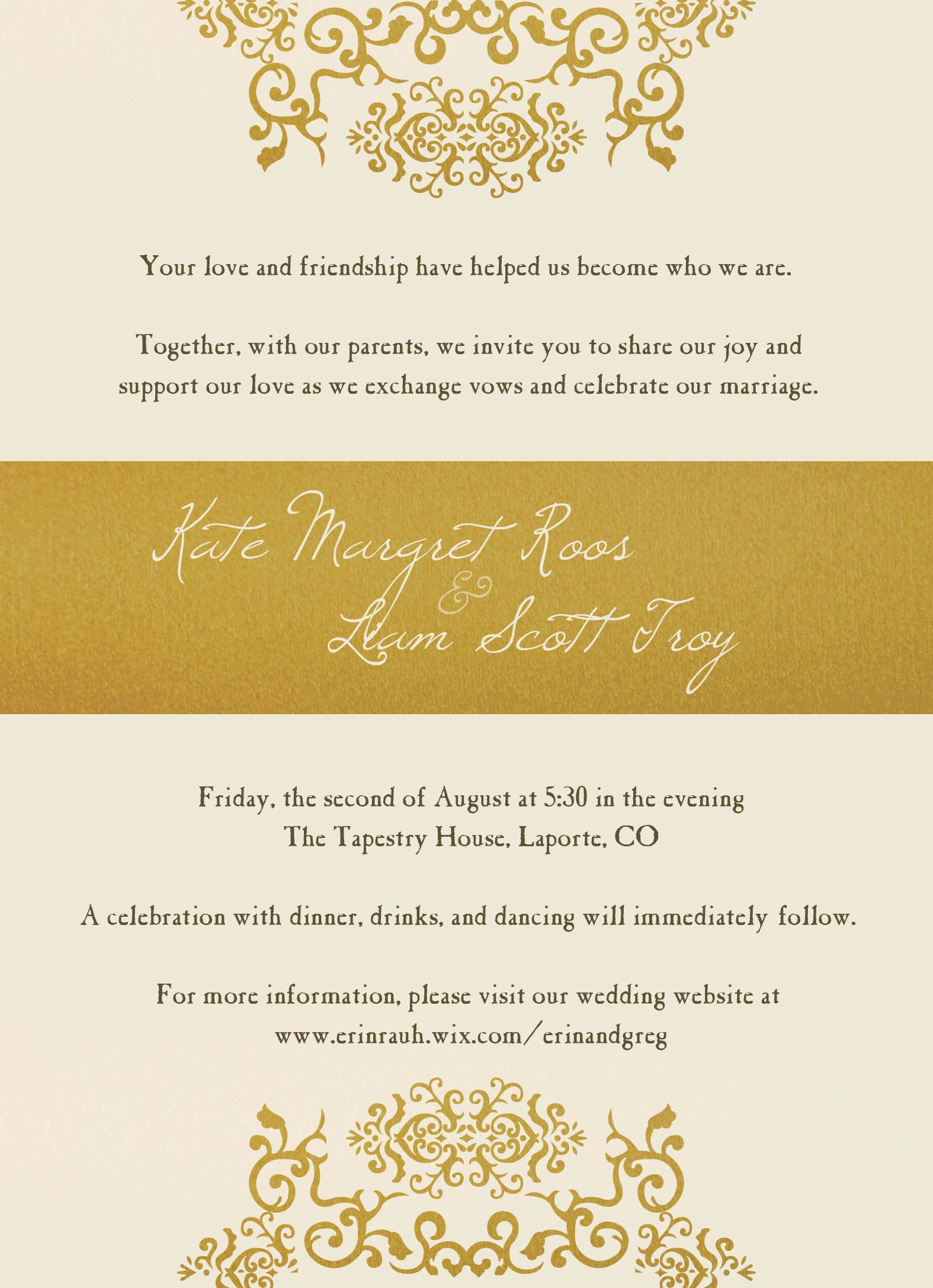 Invitation Custom Designed The Print Cafe invite