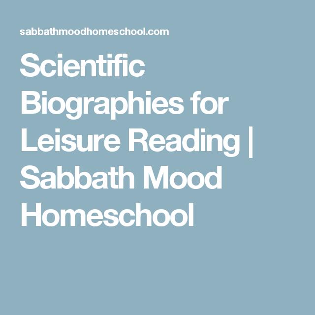 Scientific Biographies For Leisure Reading