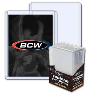 Bcw 3 X 4 Topload Card Holder 8 Pack Baseball Football
