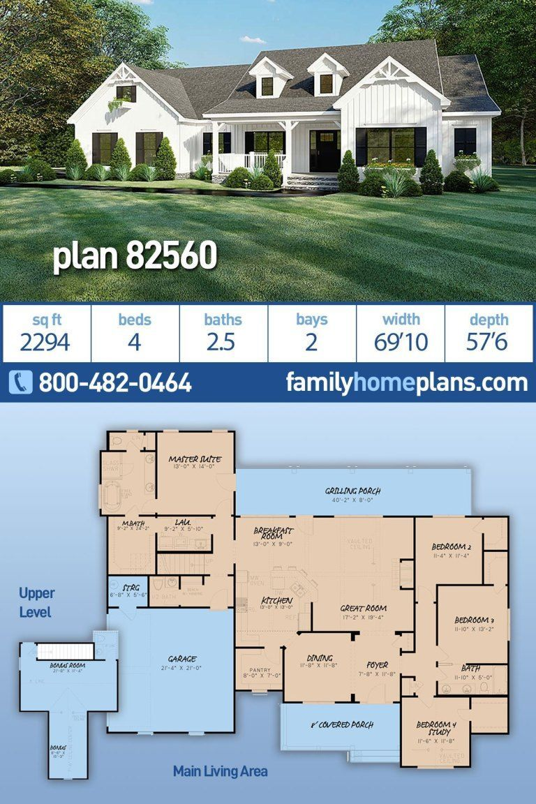 4 Bedroom Ranch House Plan With 2300 Square Feet Family Home Plans Blog Bedroom Blog Familienb In 2020 Family House Plans Craftsman House Plans Ranch House Plan