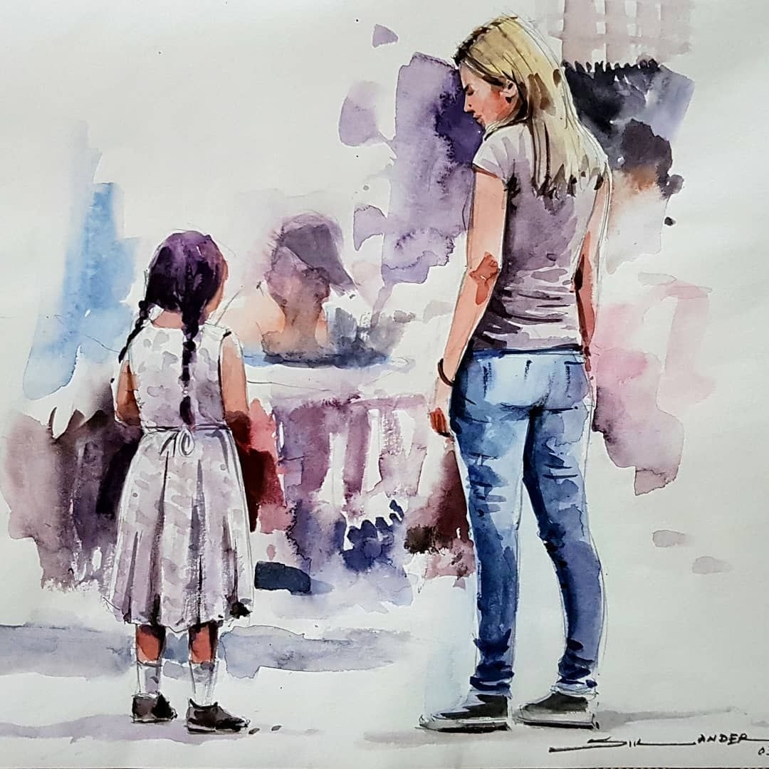 Watercolour Oil Color Painting On Instagram Watercolorpainting