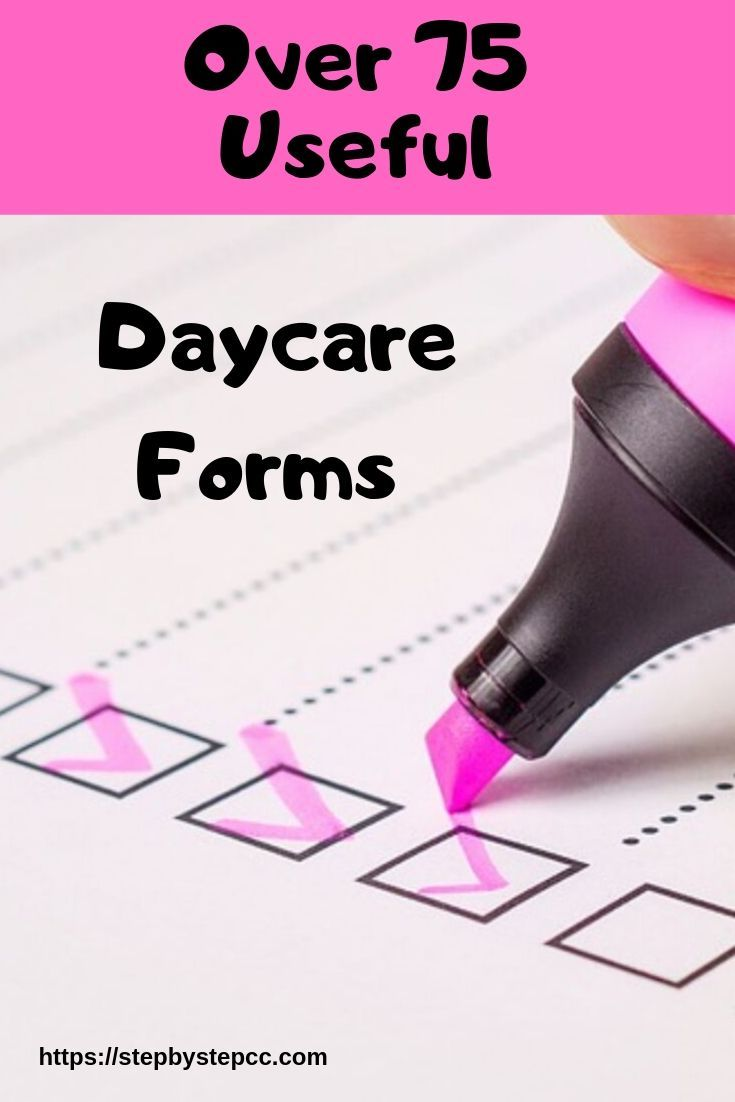 Photo of Over 75 Useful Daycare Forms