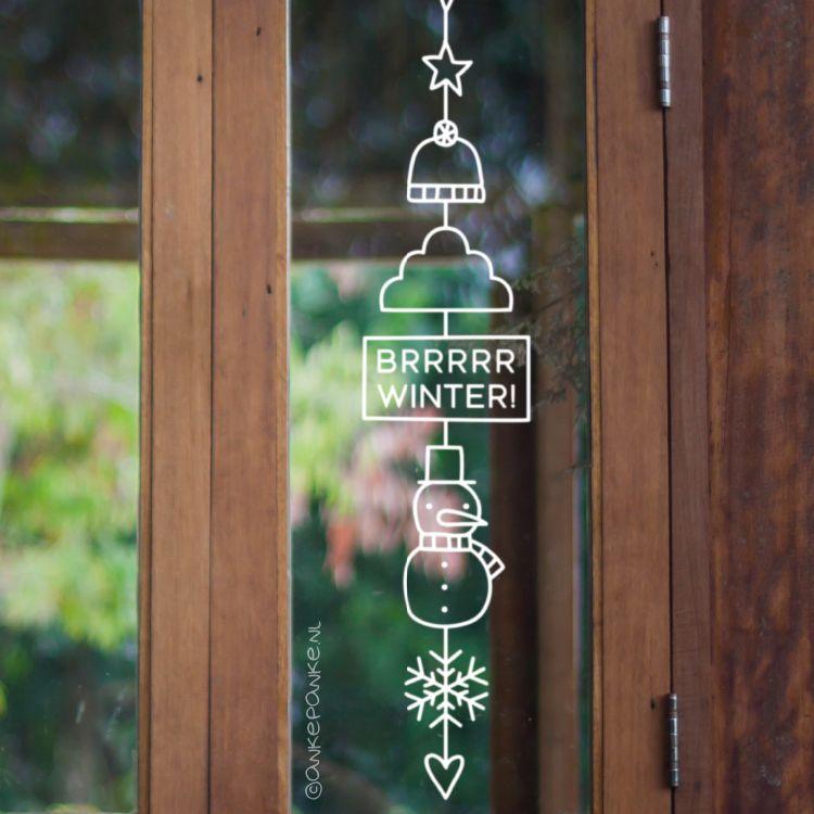 Photo of Brrrr winter hanger window drawing