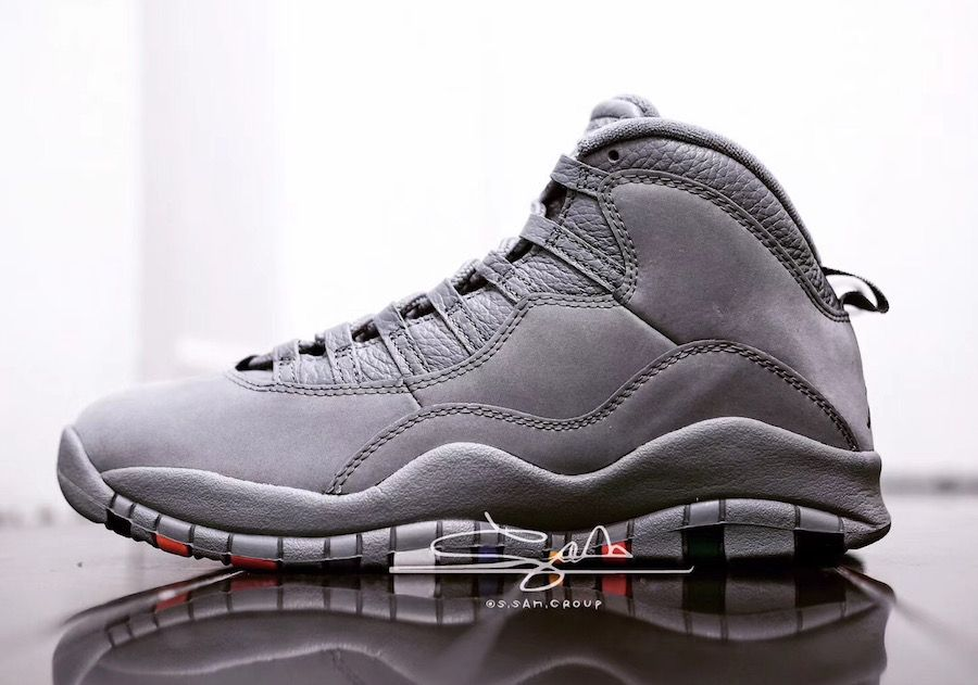 "b7eec4778084 Detailed Look at the Air Jordan 10 ""Cool Grey"""
