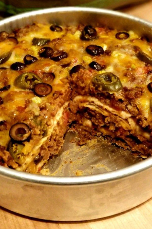 Burrito Pie  This is the first recipe Ive made in a LONG time where everyone at the table cleaned their plates  and asked for seconds or thirds in my husbands case With t...